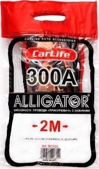 Кабель пусковий д/авто CARLIFE 300A 2.0м ВС631