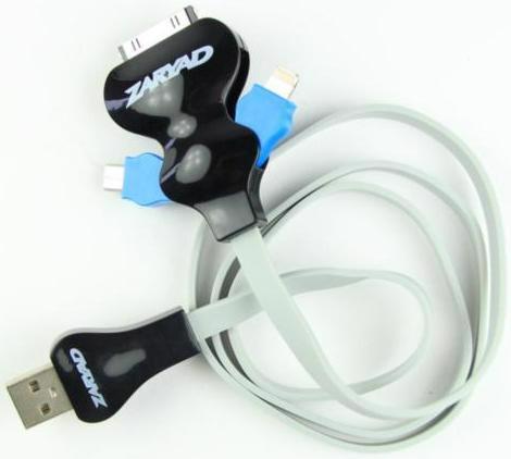Кабель-перехідник USB ZARYAD iPhone4/iPhone5/MicroUSB SJ15-IP5/MC