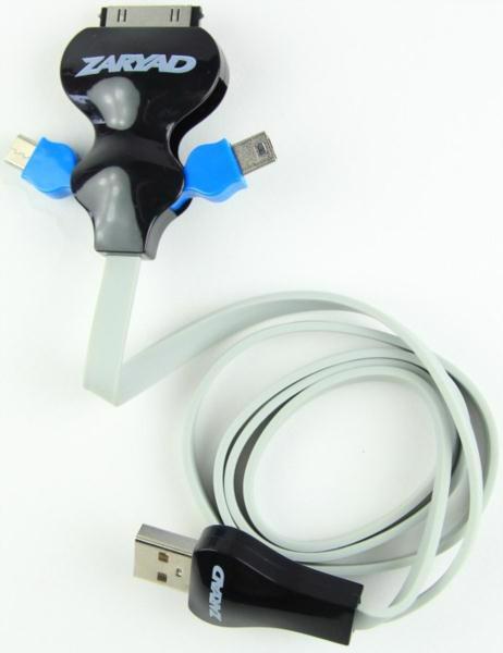 Кабель-перехідник USB ZARYAD iPhone4/MiniUSB/MicroUSB SJ15