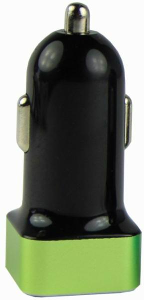 Пристрій заряд. авто ZARYAD 2*USB 2A в асорт.
