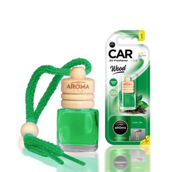 Ароматизатор AROMA CAR Wood зелений чай 6мл 631197