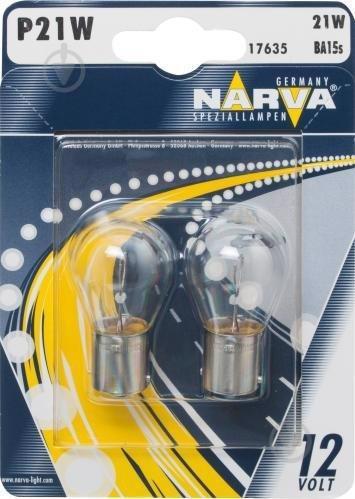Автолампа NARVA P21W 12V BA15s 2шт 12498NVAB2 (17635)