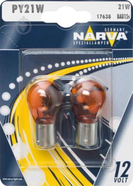 Автолампа NARWA PY21W 12V BAU15s 2шт 12496NANVAB2 (17638)