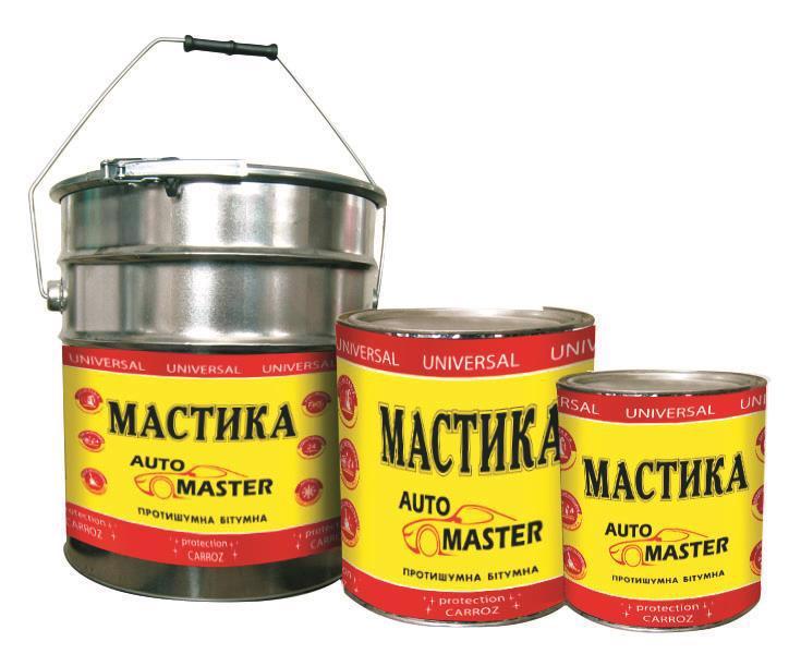 Мастика бітумна AUTO MASTER антикорозійна 1,8кг (2л)
