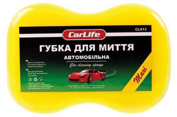 Губка д/авто CARLIFE maxi 245*160*70мм CL413