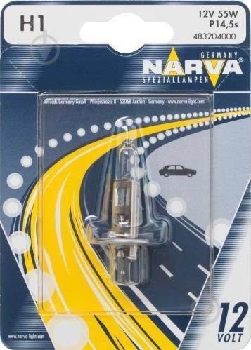 Автолампа NARWA галоген. H1 12V 55W P14.5S NV 48320.1B