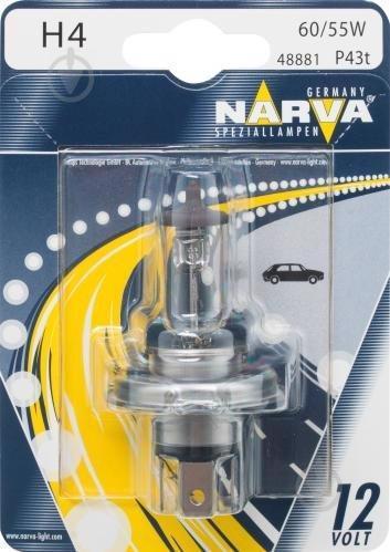 Автолампа NARWA галоген. H4 12V 60/55W P43T NV 48881.1B