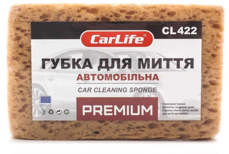 Губка д/авто CARLIFE Premium 190*120*70мм CL422
