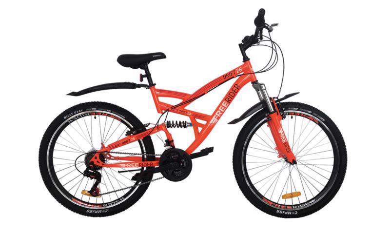 """Велосипед гір. 26"""" FREERIDER Drift оранж.-чор.-червон. 9045"""