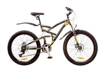 """Велосипед гір. 26"""" FREERIDER Drift DD сір.-жовт. 9069"""