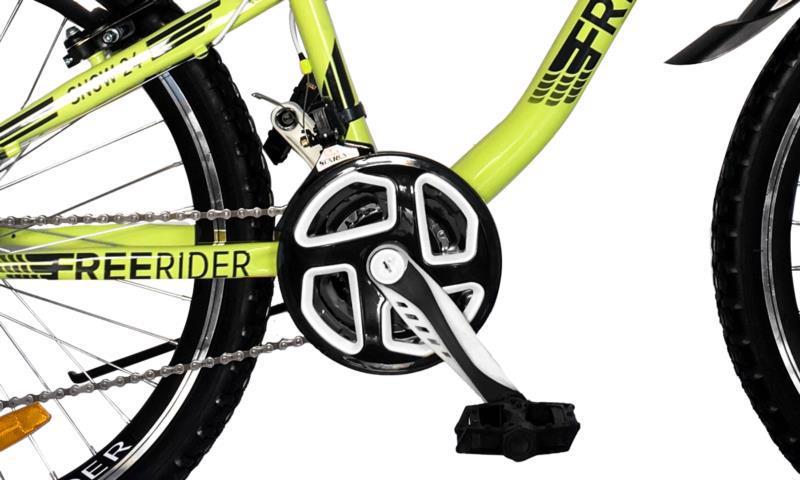 """Велосипед гір. 24"""" FREERIDER Snow зел.-чор. 9120"""