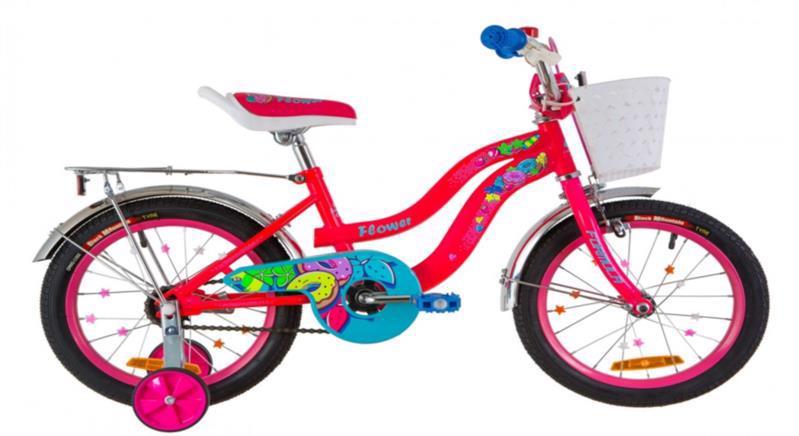 """Велосипеди дит. 16"""" FREERIDER Flora черв. 9423"""