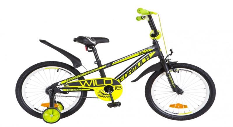 "Велосипед дит. 18"" FREERIDER Fleet зелен.-жовт. 719"