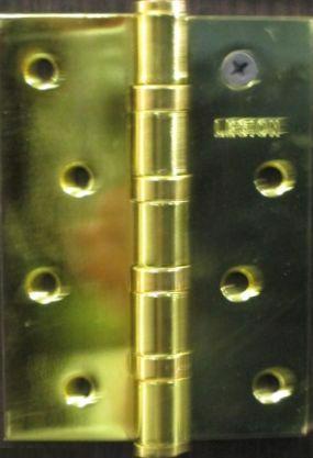Петля дверна врізна універсал 100*75*2.5мм латунь LEGION 9003 PB