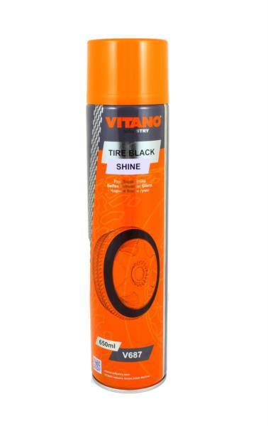 Очищувач-поліроль д/шин VITANO 650мл v687 /аерозоль/