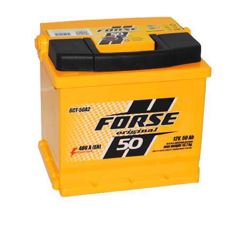 Акумулятор д/авто FORSE Original 6СТ-50 A2H 50A лів.+