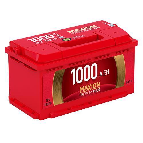 Акумулятор д/авто MAXION Premium Plus 6СТ-110 A2 110A Євро прав.+