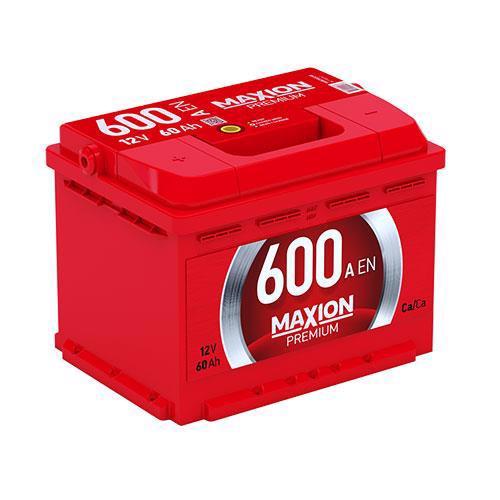 Акумулятор д/авто MAXION Premium Plus 6СТ-60 A2 60A Євро прав.+