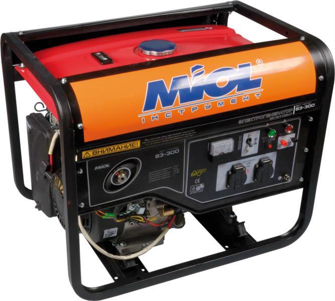 Генератор бензиновий MIOL 83-300, 3.0/3.5кВт ел/старт