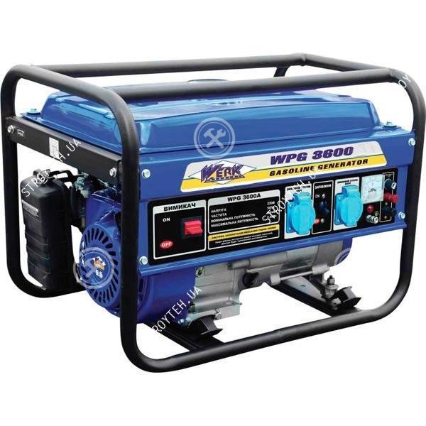 Генератор бензиновий WERK WPG3600, 2.5кВт, р/старт 63224
