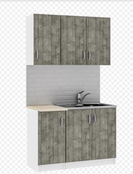 Кухня ЦИТАДЕЛЬ Міни 1200*820мм (4секціі) ДСП монолит