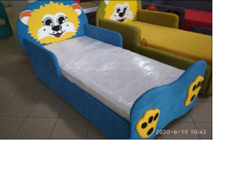 Ліжко дитяче Левеня 800*1600мм син/крас/бузк. Б