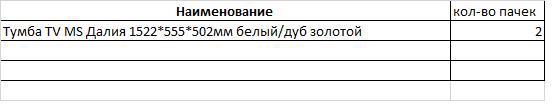 Тумба TV MS Далія 1522*555*502мм білий/дуб золотий