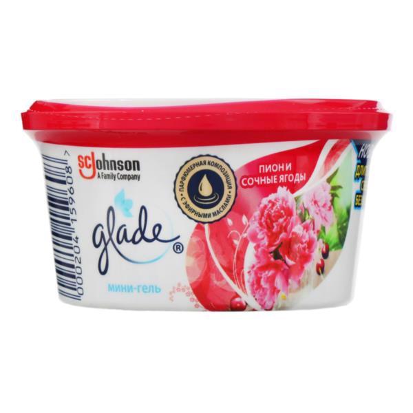 Освіжувач повітря GLADE Міні-гель Півонія і соковиті ягоди 70г