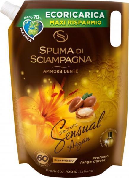 Кондиціонер д/білизни  SPUMA DI SCIAMPAGNA Sensual argan з мікрокапсулами (60 прань) 1.5л