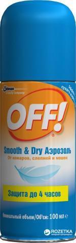 Аерозоль від комарів OFF! з ефектом сухого аерозолю 100мл