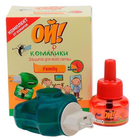 Фумігатор електр. ОЙ! КОМАРИКИ Family + рідина від комарів 30мл