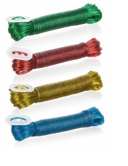 Веревка д/белья BRILANZ пластик/сталь 20м 43964054