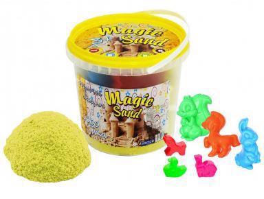 Пісок кінетичний STRATEG Magic Sand жовтий 1кг 372-6