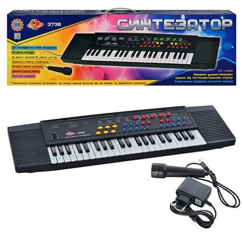 Іграшка пласт. Піаніно музич. + мікрофон PL-3738-U