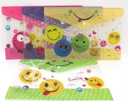 "Папка-конверт А4 ""Smile"" на кнопці 18S"