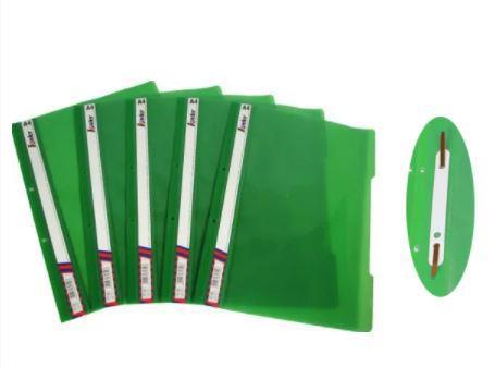 Папка-швидкозшивач А4 LEADER пласт. зелена KS320-1