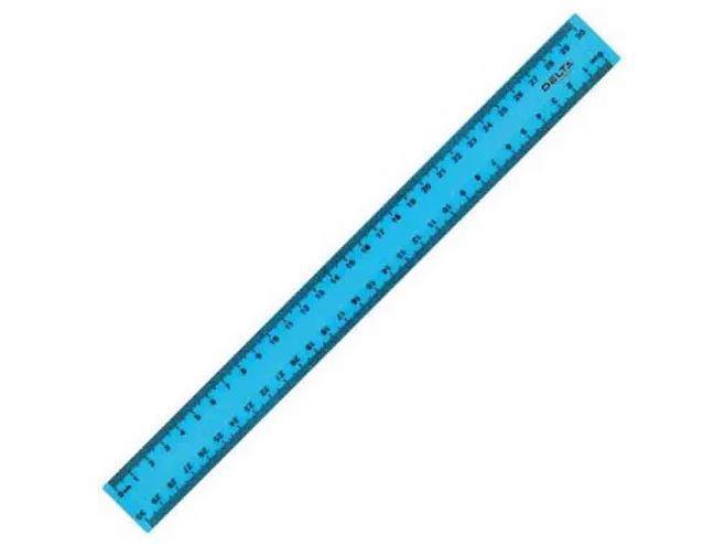 Лінійка пласт. 30см AXENT Delta блакитна D9800-03