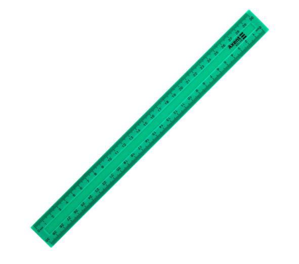 Лінійка пласт. 30см AXENT Delta зелена D9800-02