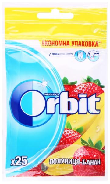 Гумка жувальна ORBIT Bags Strawberry-Banana 25шт