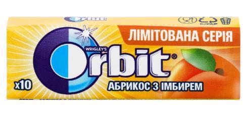 Гумка жувальна ORBIT Абрикос з імбирем