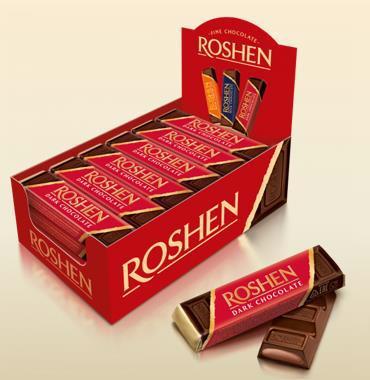 Батончик шоколадний ROSHEN з помадно-шоколадною начинкою 43г