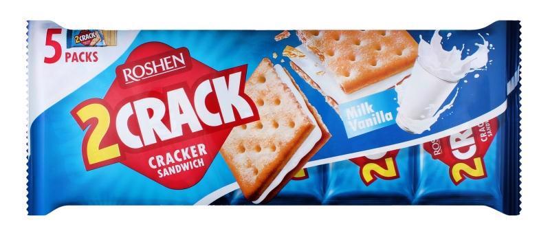 Крекер ROSHEN 2 Crack Milk vanilla 5*47г 235г