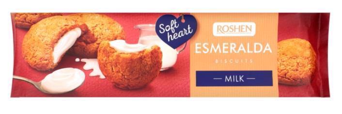 Печиво ROSHEN Lovita/Esmeralda soft heart Milk 170г