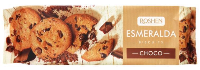 Печиво ROSHEN Lovita/Esmeralda з шматочками глазурі 150г
