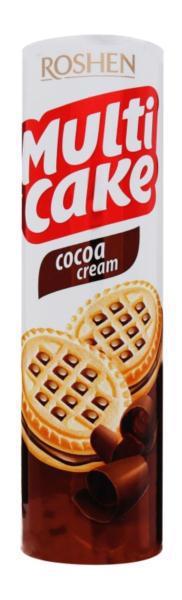 Печиво ROSHEN multicake з начинкою какао-крем 180г