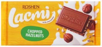 Шоколад ROSHEN lacmi молочний з дробл. лісовим горіхом 90г