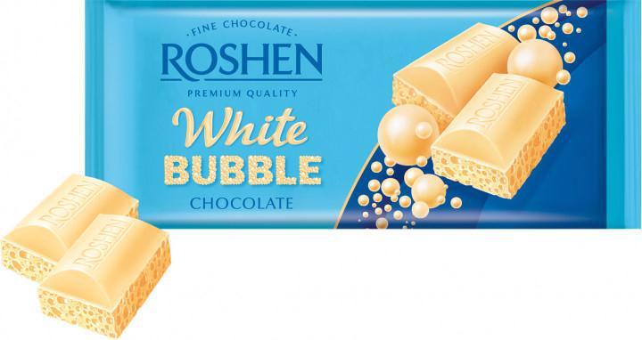 Шоколад ROSHEN білий пористий 80г