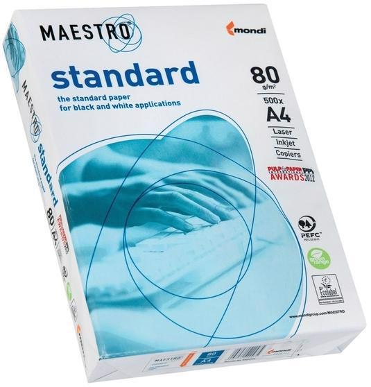 Папір А4 MAESTRO Standard біла 80г/м кв. 500 аркушів