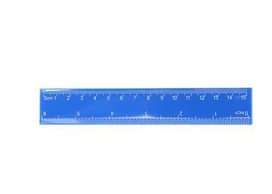 Лінійка пласт. 15см J.OTTEN синя JO23875-6