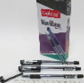 Ручка кулькова масл. чорн. GOLDEX Lyka №1262 0.7мм 1262-bk